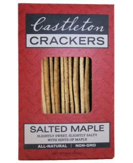 Castleton Crackers Salted Maple Crackers