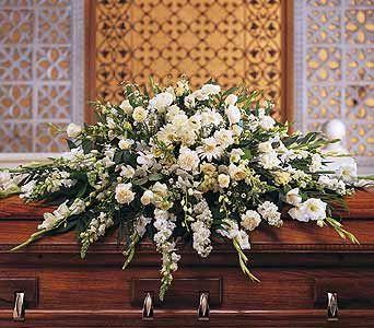 Deluxe pure white casket spray casket standing sprays deluxe pure white casket spray mightylinksfo