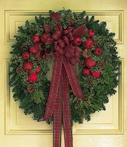 Fresh Wreath with Apples