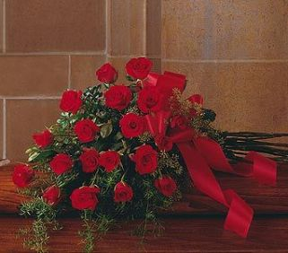 Red Rose Tribute Casket Spray