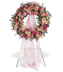 Respectful Pink Wreath