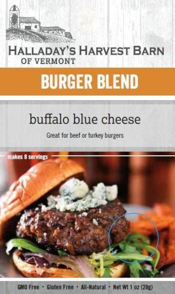 Buffalo Blue Cheese Burger Burger Blends Halladays