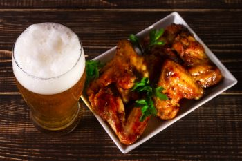 Cheddar Ale Wings