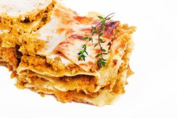 Garlicky Roasted Butternut Squash Lasagna