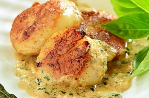 Creamy Baked Scallops