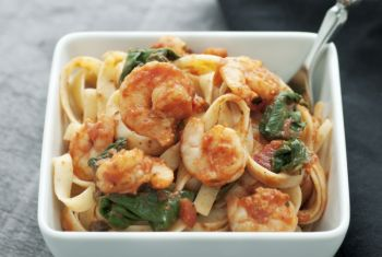 Shrimp & Spinach Scampi