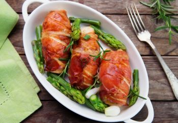 Prosciutto-Wrapped Stuffed Chicken