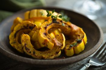 Spicy Honey Roasted Acorn Squash