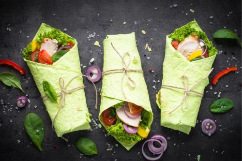 Roasted Red Pepper Hummus Wrap