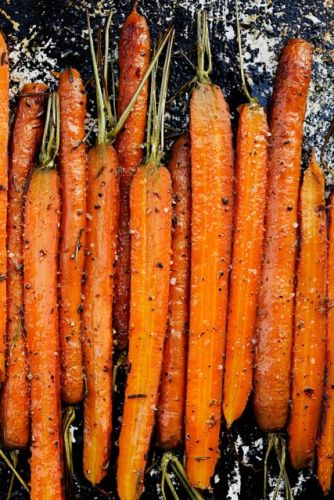 Oven Roasted Dilly Carrots