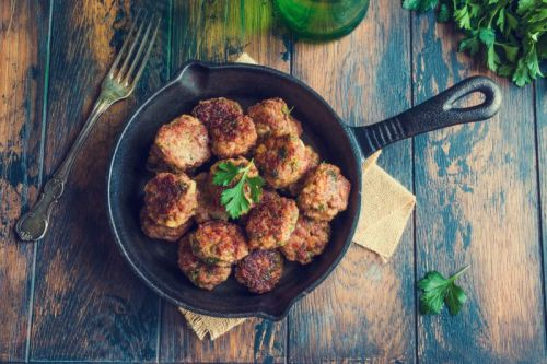 Garlic Rosemary Balsamic Meatballs